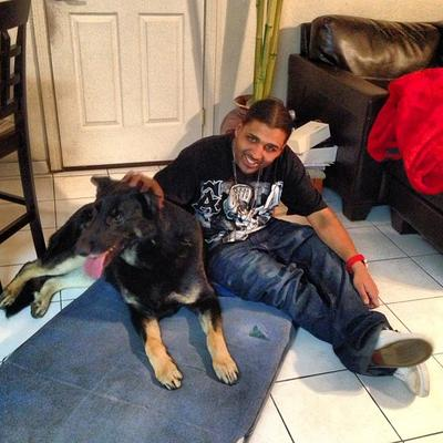 Rocky, my 130 lb German Shepherd